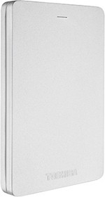 Внешний жесткий диск TOSHIBA Canvio Alu 3S, 500Гб, серебристый [hdth305es3aa]