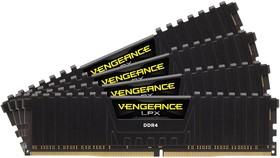 Модуль памяти CORSAIR Vengeance LPX CMK32GX4M4A2666C16 DDR4 - 4x 8Гб 2666, DIMM, Ret