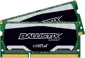 Модуль памяти CRUCIAL Ballistix Sport BLS2C4G3N169ES4CEU DDR3L - 2x 4Гб 1600, SO-DIMM, Ret
