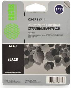 Картридж CACTUS CS-EPT1711 черный