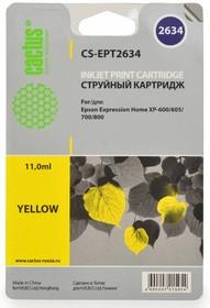 Картридж CACTUS CS-EPT2634 желтый
