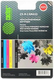 Заправочный комплект CACTUS CS-R-CAN425, для Canon, многоцветный