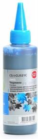 Чернила CACTUS CS-I-CLI521С, для Canon, 100мл, голубой [cs-i-cli521c]