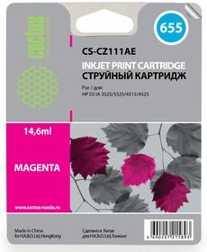 Картридж CACTUS CS-CZ111AE №655, пурпурный