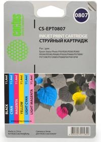 Заправочный комплект CACTUS CS-R-EPT0807, для Epson, 72мл, многоцветный
