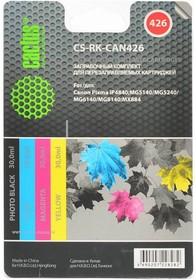 Чернила CACTUS CS-RK-CAN426, для Canon, 30мл, многоцветный