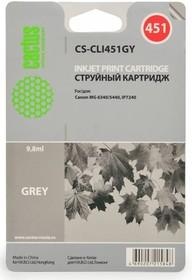 Картридж CACTUS CS-CLI451GY серый