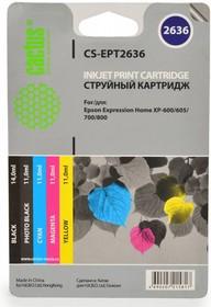 Набор картриджей CACTUS CS-EPT2636 черный / голубой / пурпурный / желтый