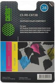 Заправочный комплект CACTUS CS-RK-C8728, для HP, 90мл, многоцветный