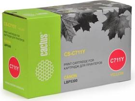 Картридж CACTUS CS-C711Y желтый