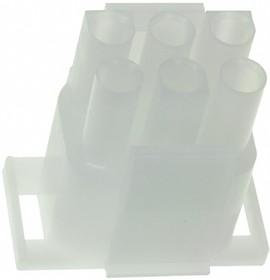 Фото 1/2 1-480704-0, Корпус разъема Universal MATE-N-LOK, вилка 6PIN, Matrix (Nylon, UL 94V-2) без контактов