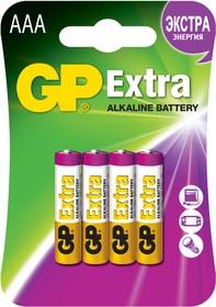24AX (A286/LR03/AAA)4, Элемент питания алкалиновый Extra (4шт) 1.5В