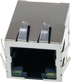Фото 1/2 KLU1T516-43-LF (LU1T516-43), Разъем RJ-45 + трансформатор + светодиоды - в одном корпусе