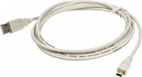 Кабель USB2.0 NINGBO USB A (m) - miniUSB B (m), 1.8м, серый [usb2.0-m5p]