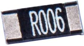 ULR1-R006FT2, Токочувствительный резистор SMD, 0.006 Ом, Серия ULR, 2512 [6432 Метрический], 1 Вт, ± 1%, Жесть