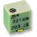 Фото 2/2 3214W-1-101E, Res Cermet Trimmer 100 Ohm 10% 0.25W(1/4W) 5(Elec)Turns 1.5mm (4.8 X 3.9 X 5.3mm) J-Hook SMD T/R