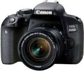 """Фото 1/5 Зеркальный Фотоаппарат Canon EOS 800D черный 24.2Mpix EF-S 18-55mm f/4-5.6 IS STM 3"""" 1080p Full HD SDXC Li-ion (с объективом)"""