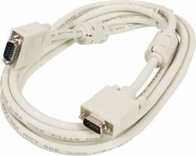 Кабель SVGA NINGBO CAB016S-10F, VGA (m) - VGA (m), ферритовый фильтр , 3м, белый