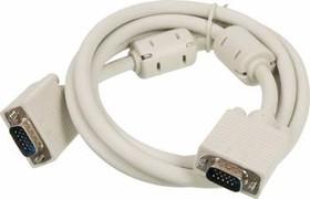 Кабель SVGA NINGBO CAB016S-06F, VGA HD15 (m) - VGA HD15 (m), ферритовый фильтр , 1.8м