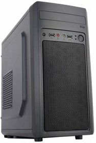 Корпус mATX ACCORD M-02B, Mini-Tower, без БП, черный