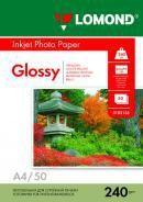Фотобумага LOMOND 0102135, для струйной печати, A4, 240г/м2, 50 листов