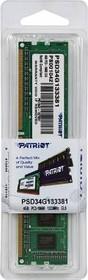Модуль памяти PATRIOT PSD34G133381 DDR3 - 4Гб 1333, DIMM, Ret