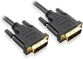 GC-DM2DMC-5.0m, Кабель DVI-D 5.0m, DVI/DVI, 25M/25M, Greenconnect, черный, 30 AWG, ферритовое кольцо, позолоченные