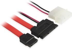 GC-ST307, Комплект SATA-кабелей 0.5m Micro SATA 16pin M/SATAII до 3Gbps 7pin M/Molex 4pin M