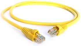 GCR-LNC02-0.1m, GCR Патч-корд прямой 0.1m UTP кат.5e, желтый, позолоченные контакты, 24 AWG, литой, ethernet high sp