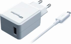 HP21WMCU, Блок питания с USB разъёмом (шнур micro USB в комплекте) белый, 5В,2.4А,12Вт (адаптер)