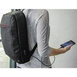"""Фото 6/6 Рюкзак для ноутбука 15.6"""" Hama Manchester черный полиэстер (00101825)"""