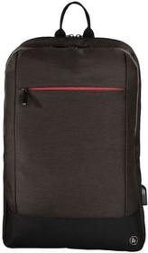 """Фото 1/6 Рюкзак для ноутбука 15.6"""" Hama Manchester коричневый полиэстер (00101827)"""