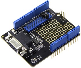 Фото 1/4 RS232 Shield, Arduino-совместимая плата расширения интерфейс RS-232