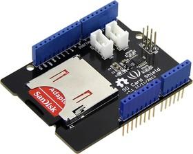 Фото 1/4 SD Card Shield V4, Arduino-совместимая плата расширения для подключения SD, SDHC и TF карт памяти.