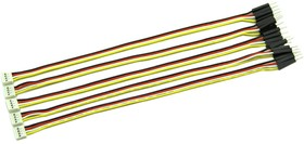 Фото 1/3 Grove - 4 pin Male Jumper to Grove 4 pin Conversion Cable (5 PCs per Pack), Набор проводов соединительных (F-M) 5 штук