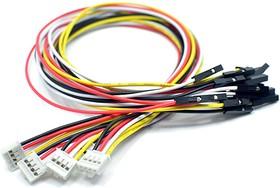 Grove - 4 pin Female Jumper to Grove 4 pin Conversion Cable (5 PCs per PAck), Набор проводов соединительных (F-F) 5 штук