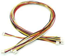 Фото 1/2 Grove - Universal 4 Pin Buckled 40cm Cable (5 PCs Pack), Набор проводов соединительных (F-F) 5 штук