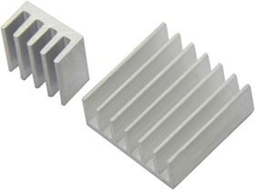Фото 1/3 Heat Sink Kit for Raspberry Pi B+, Набор радиаторов для Raspberry Pi B+
