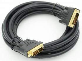 Кабель DVI DVI-D(m) dual link - DVI-D(m) dual link, ферритовый фильтр , 5м, черный