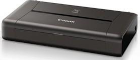 Принтер CANON Pixma IP110, струйный, цвет: черный (аккумулятор в комплекте) [9596b029]