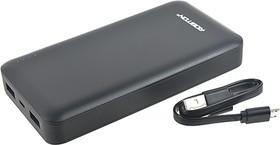 Фото 1/3 LP15-K (черный), Внешний аккумулятор портативный, Power Bank (15000mAh) USB-micro USB, 2.1A