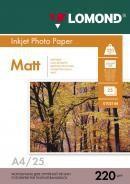 Фотобумага Lomond 0102148 A4/220г/м2/25л./белый матовое/матовое для струйной печати