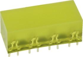L-895/8YDT, светодиодная полоса желтый 10х22мм 10мКд