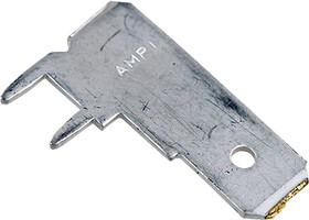63951-1, FASTON клемма ножевая вилка 6.35мм на плату угловая