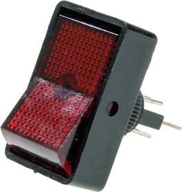 ASW-11D/R, Переключатель, красный, 12В