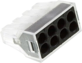 XY608-8P, электромонтажная клемма 8 контактов 400В/24А 22-14AWG (аналог 773-328)