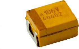 Фото 1/3 TCJB106M035R0200, танталовый SMD конденсатор 10 мкФ x 35В типB 20