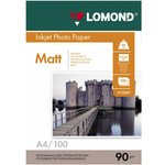 Фотобумага Lomond 0102001 A4/90г/м2/100л./белый матовое для ...