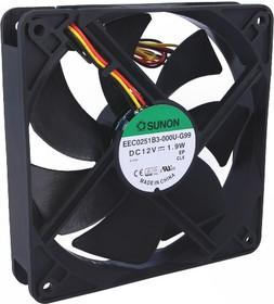 EEC0251B3-G99, Вентилятор осевой, 12В DC, 120x120x25мм, подшипник качения, 127,5куб.м/ч, 34дБА