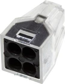 XY608-4P, электромонтажная клемма 4 конт. 400В/24А 22-14AWG (773-324)